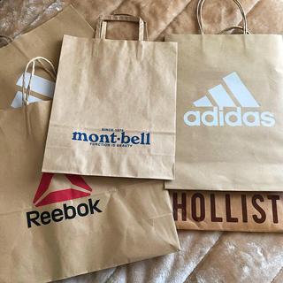 アディダス(adidas)の紙袋 adidas HOLLISTER mont-bell セット売り(ショップ袋)