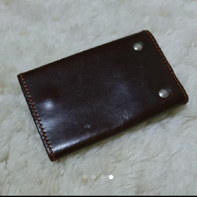 EDITO 365(エディトトロワシスサンク)の革製キーケース イタリア製 レザー ブラウン 茶色 メンズのファッション小物(キーケース)の商品写真