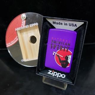 ジッポー(ZIPPO)の新品♥16K'ZIPPO♥アメスピ アメジスト♥ディスプレイケース付き♥送料無料(タバコグッズ)