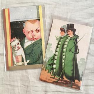 アッシュペーフランス(H.P.FRANCE)のJohn Derian ジョンデリアン ポストカード 2枚セット⑥ 豆 ペア(切手/官製はがき)