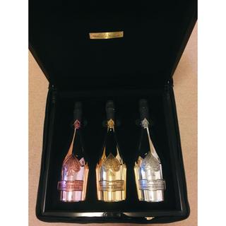 ドンペリニヨン(Dom Pérignon)のアルマンド ド ブリニャック  トリロジー 三本セット アタッシュケース入り(シャンパン/スパークリングワイン)