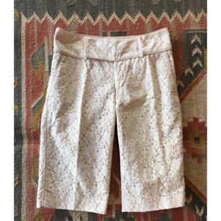 パオラフラーニ(PAOLA FRANI)の【美品】【PAOLA FRANI】レース短パンツ イタリアサイズ40着丈56㎝(ハーフパンツ)