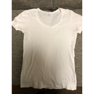 スリードッツ(three dots)のスリードッツ Uネック白Tシャツ(Tシャツ(半袖/袖なし))