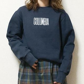 コロンビア(Columbia)の[used]ネイビーcolumbia刺繍スウェット(トレーナー/スウェット)
