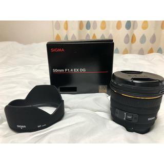 シグマ(SIGMA)のSIGMA 50mm F1.4 DG HSM ソニーAマウント用 美品(レンズ(単焦点))