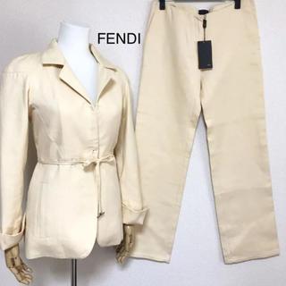 フェンディ(FENDI)の正規品 フェンディ【未使用】コットン パンツスーツ(スーツ)