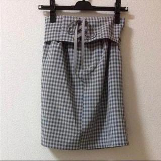 バイバイ(ByeBye)のBye Bye レースアップベルト付きチェック柄スカート(ミニスカート)