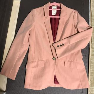 ソアリーク(Soareak)のサーモンピンクジャケット 丈長め(テーラードジャケット)