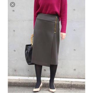ノーブル(Noble)のダブルクロスラップスカート (ひざ丈スカート)