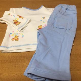 ディズニー(Disney)のプーさん  ベビー服 上下セット 70cm(その他)