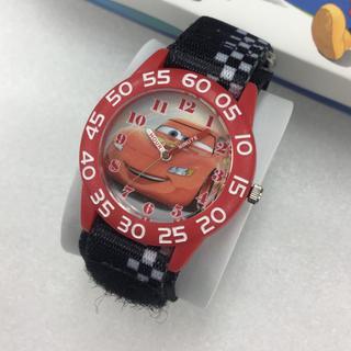 ディズニー(Disney)の新品 ディズニー カーズ 腕時計 キッズ W001679 つけ簡単マジックベルト(腕時計)