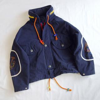 フルギ♪80s おんがく刺繍のコットンブルゾン
