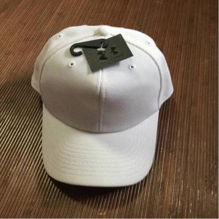 アンダーアーマー(UNDER ARMOUR)の希少 アンダーアーマー ユース ベースボールキャップ 52-54 ホワイト野球(帽子)