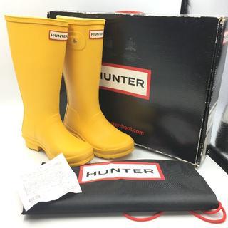 ハンター(HUNTER)の美品 HUNTER ハンター ブーツ キッズ イエロー EU32 21cm(長靴/レインシューズ)