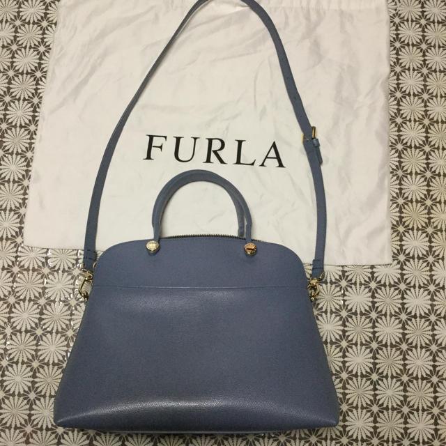 99d93035606b Furla - フルラ パイパー Mサイズ ブルーグレーの通販 by おでん's shop ...