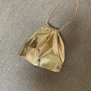 レプシィム(LEPSIM)のゴールド 巾着バック(ハンドバッグ)