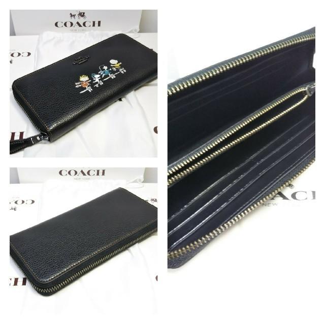 13516e7c8289 COACH - COACH 長財布 ブラック×スヌーピー [正規品] (定価:¥39,960)の ...