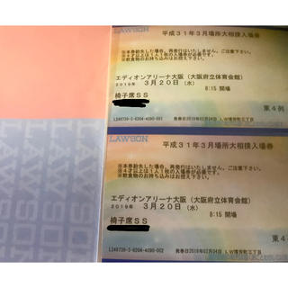大相撲 大阪場所 3月20日SS席2連2席(相撲/武道)