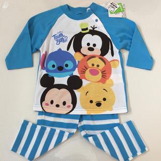 ディズニー(Disney)の新品 ツムツム 年中素材 パジャマ 80サイズ(パジャマ)