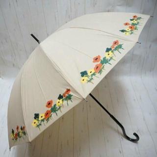 シビラ(Sybilla)のSybilla シビラ 12本骨 長傘 雨傘☆花柄 ベージュ ②(傘)