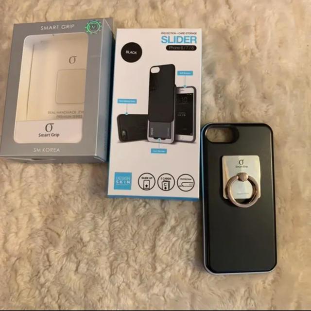 最新iphoneケース / Apple - デザインスキン カード スライド iPhoneケース リング セット 美品の通販 by lily|アップルならラクマ