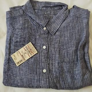 ムジルシリョウヒン(MUJI (無印良品))の新品 無印良品 リネンシャツ M(シャツ/ブラウス(長袖/七分))