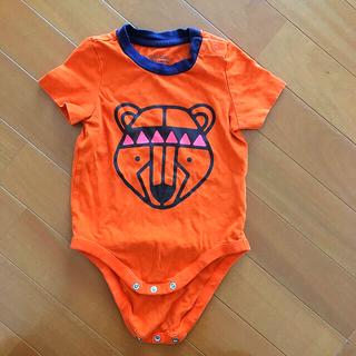 ベビーギャップ(babyGAP)のbaby gap  半袖ロンパス 90㎝  綿100 % バックプリントあり(ロンパース)