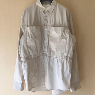 ディガウェル(DIGAWEL)のDIGAWEL 18SS テープギャザーシャツ(シャツ)