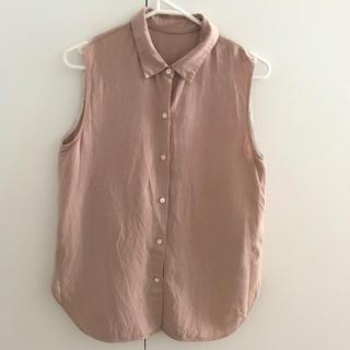デミルクスビームス(Demi-Luxe BEAMS)の美品 デミルクスビームス  リネンシャツ 38(シャツ/ブラウス(半袖/袖なし))