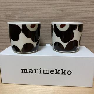 マリメッコ(marimekko)のmarimekko マリメッコ ラテマグ ウニッコ ダークグレー(グラス/カップ)