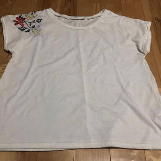 半袖 刺繍 Tシャツ トップス(Tシャツ(半袖/袖なし))
