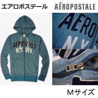 エアロポステール(AEROPOSTALE)の新品◆エアロポステール フルジップ パーカー◆M ブルー(パーカー)