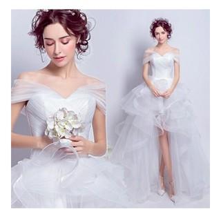 ウェディングドレス フィッシュテール オフショル  Aライン(ウェディングドレス)