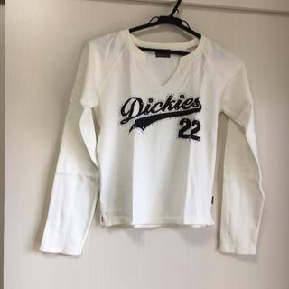 ディッキーズ(Dickies)の【ほぼ新品、送料込】Dickies ラインストーンロゴTシャツ(Tシャツ(長袖/七分))