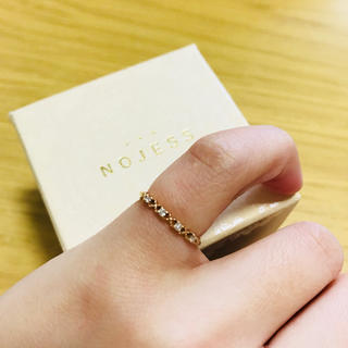 ノジェス(NOJESS)のNOJESS  ノジェス  キスハグ  ピンキーリング  K10 ダイヤモンド(リング(指輪))