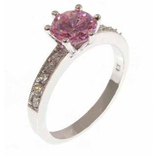 ピンクダイヤリング プリンセスカット(リング(指輪))