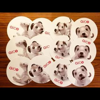ソニー(SONY)の【SONY aibo】丸型カード  4種 各3枚(ノベルティグッズ)