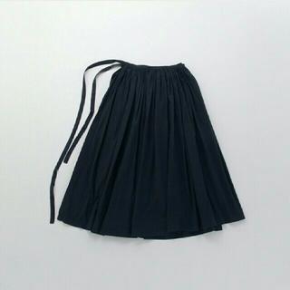イデー(IDEE)の巻きギャザーエプロンスカート(ロングスカート)
