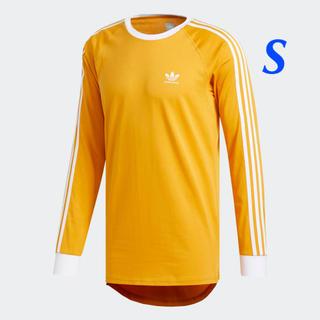 アディダス(adidas)の【メンズS】イエロー   カリフォルニア ロングスリーブTシャツ(Tシャツ/カットソー(七分/長袖))