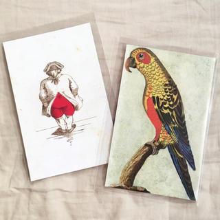 アッシュペーフランス(H.P.FRANCE)のJohn Derian ジョンデリアン ポストカード 2枚セット⑩ お尻 ハート(切手/官製はがき)