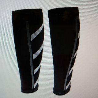 ユニセックス ランニング 陸上 競技 圧縮 スリーブ ふくらはぎ 脚 男女兼用(レッグウォーマー)
