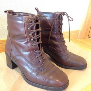 サマンサモスモス(SM2)のブラウン ショートブーツ(ブーツ)