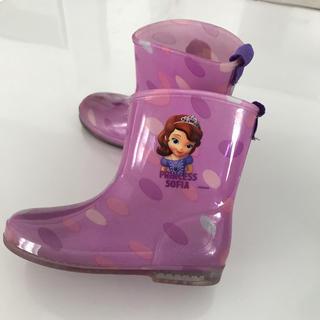 ディズニー(Disney)のプリンセスソフィア 長靴 17.0cm(長靴/レインシューズ)