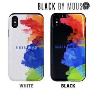 マウジー(moussy)のBLACK bymoussy✯iPhoneX/Xs背面シェルケース(iPhoneケース)