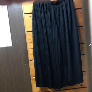 GU - ワイドパンツ ブラック