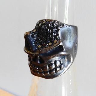 スターリンギア パンチャースリックスターリング ブラックダイヤモンドパヴェ(リング(指輪))