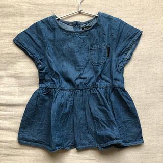 シマムラ(しまむら)の新品未使用!black closet デニムシャツ 120(ブラウス)