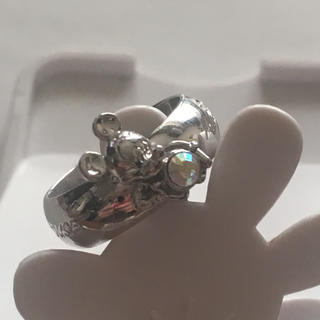 ディズニー(Disney)のミッキーマウス オパール風ストーン付きリング(リング(指輪))