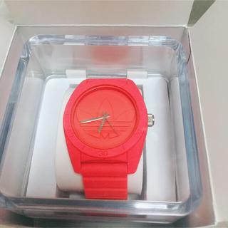 アディダス(adidas)のadidas 腕時計 ピンク 正規品(腕時計)
