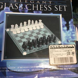 ガラスチェスセット(オセロ/チェス)